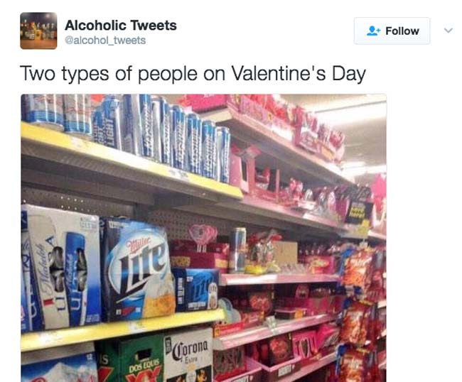 Funny Valentine's Day Tweets on Twitter. (23)