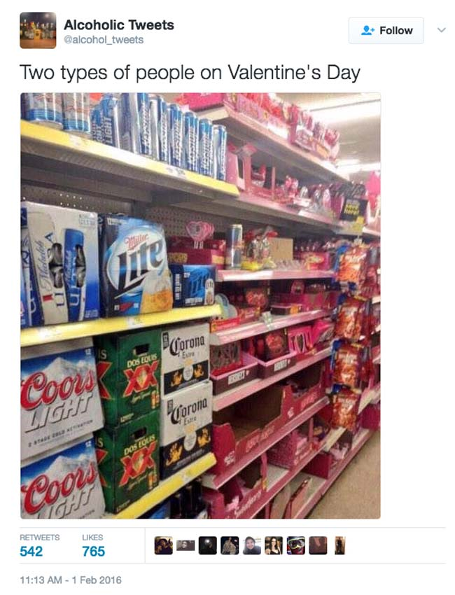 Funny Valentine's Day Tweets on Twitter. (22)
