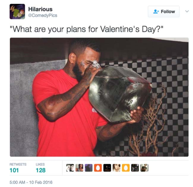 Funny Valentine's Day Tweets on Twitter. (20)