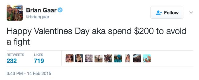 Funny Valentine's Day Tweets on Twitter. (19)