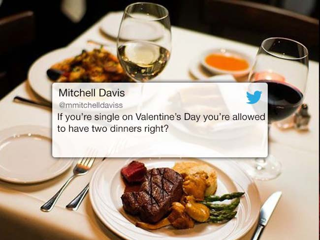 Funny Valentine's Day Tweets on Twitter. (18)