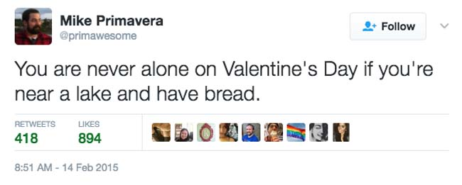 Funny Valentine's Day Tweets on Twitter. (10)