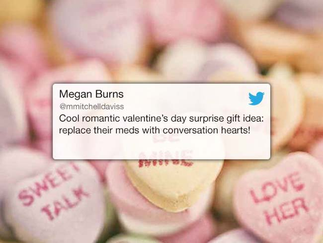 Funny Valentine's Day Tweets on Twitter. (9)