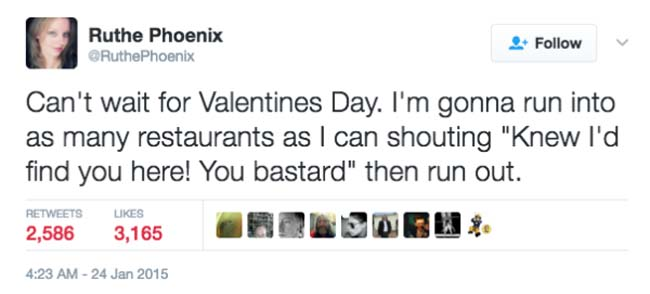 Funny Valentine's Day Tweets on Twitter. (6)