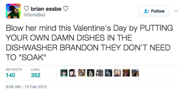 Funny Valentine's Day Tweets on Twitter. (4)