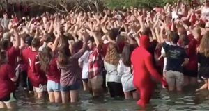 South Carolina Gamecocks fountain party videos.
