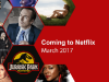 Netflix coming and going March 2017.
