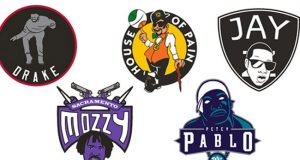 NBA logos as rappers make great photos. (26)