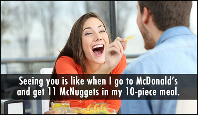 Funny pickup lines. (18)