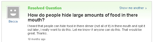 Funny yahoo answers questions. (19)