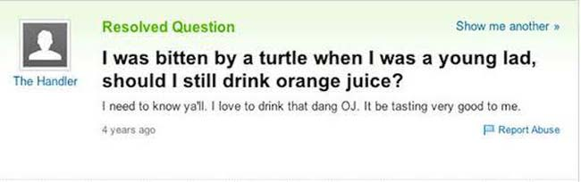 Funny yahoo answers questions. (16)
