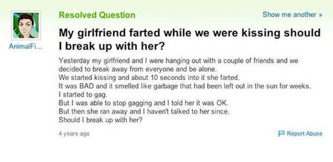 Funny yahoo answers questions. (9)