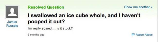 Funny yahoo answers questions. (1)