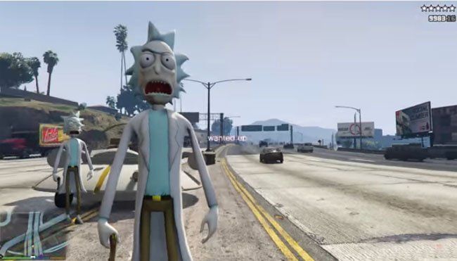 'Rick And Morty' Mod For 'Grand Theft Auto V' Videos.