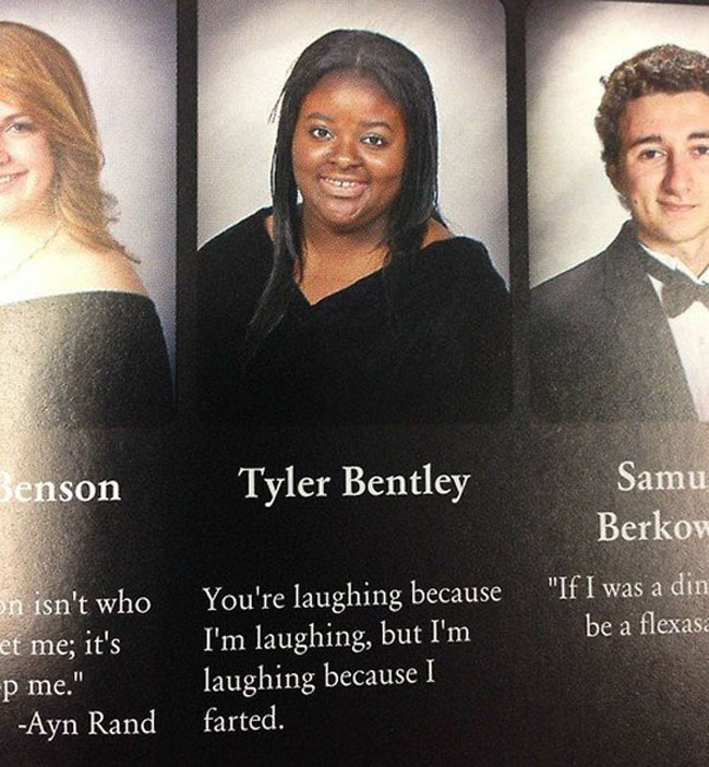 Funny Yearbook Quotes. (9)