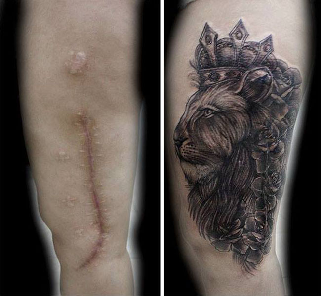Scar Tattoos photos. (23)