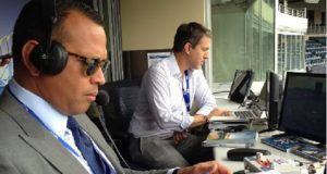 Alex Rodriguez Busted During First Broadcast Doodling Notes About Birth Control, Pull-Out Stuff.