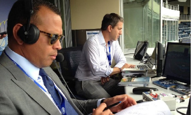 Alex Rodriguez Busted During First Broadcast Doodling Notes About Birth Control, Pull-Out Stuff