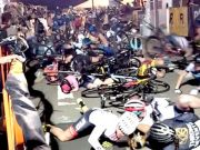 Red Hook Criterium bike crash video.