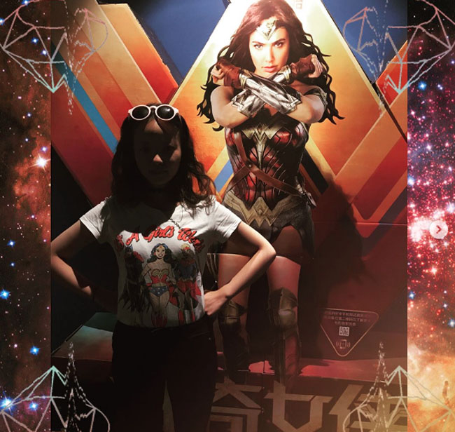 Little Ladies Who Were Empowered By Wonder Woman and posing with the movie poster. (19)