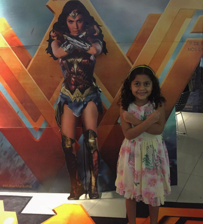 Little Ladies Who Were Empowered By Wonder Woman and posing with the movie poster. (14)