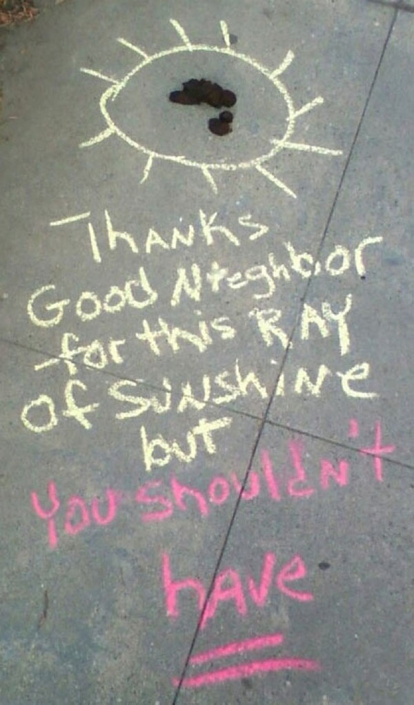 Funny notes left by neighbors. (39)