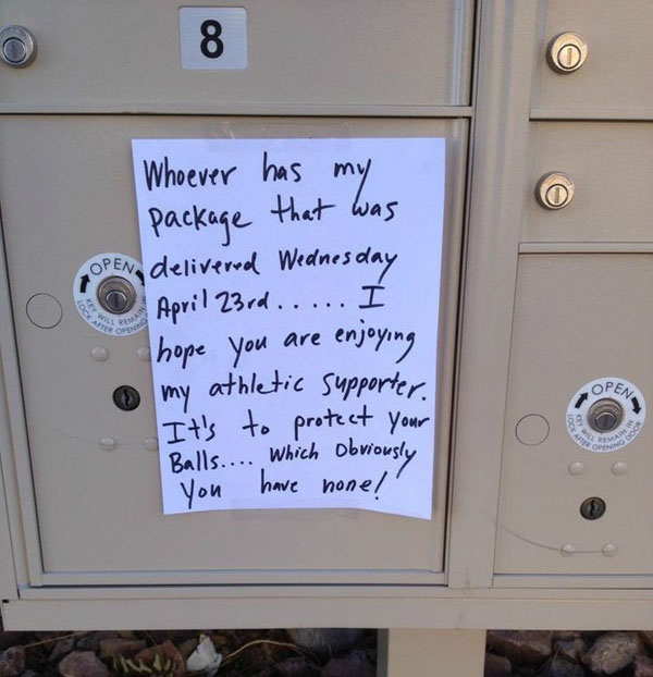 Funny notes left by neighbors. (37)