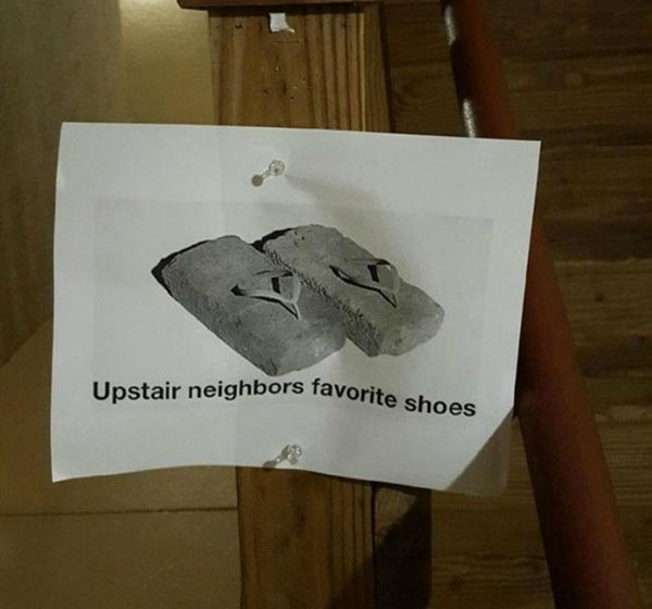 Funny notes left by neighbors. (36)
