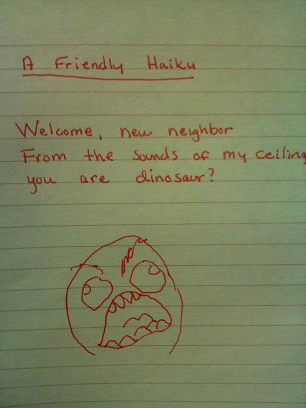 Funny notes left by neighbors. (26)