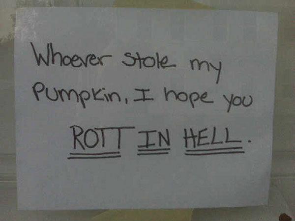 Funny notes left by neighbors. (12)