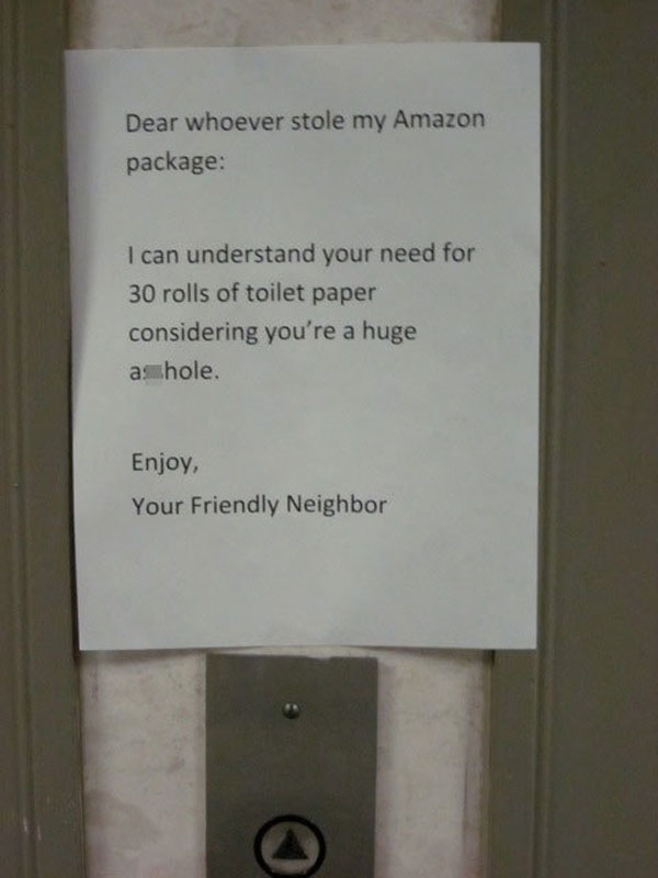 Funny notes left by neighbors. (11)