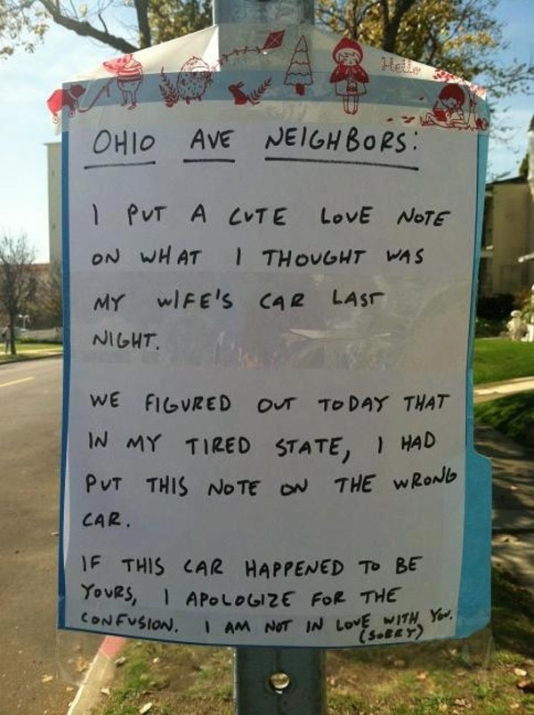 Funny notes left by neighbors. (7)