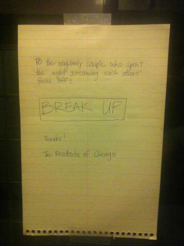 Funny notes left by neighbors. (4)