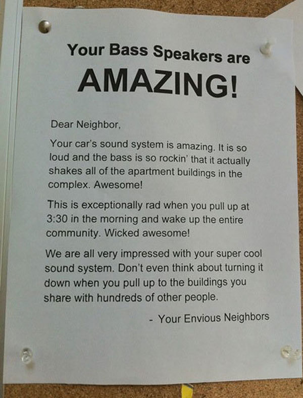 Funny notes left by neighbors. (3)