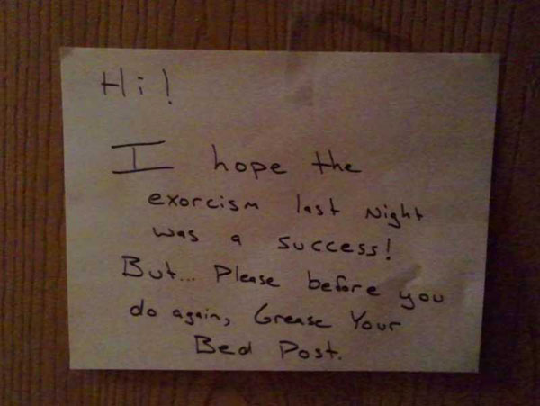 Funny notes left by neighbors. (2)