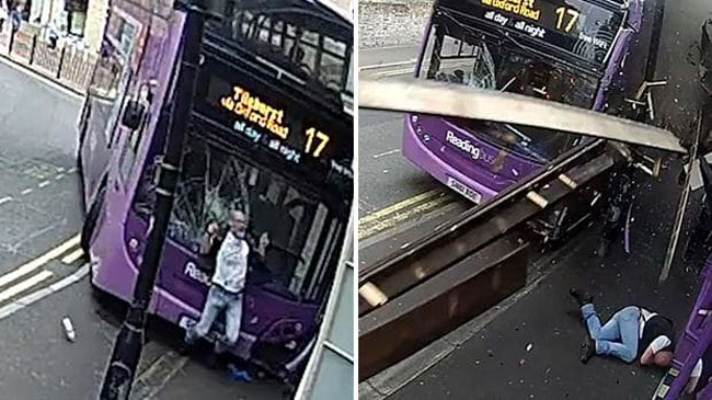 Sauce Monster Gets Smashed By Double Decker Bus Then Cooly Walks Into Bar. (1)