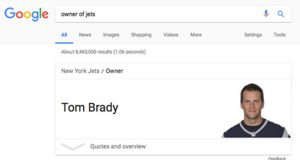 Tom Brady who owns the New York Jets. (5)