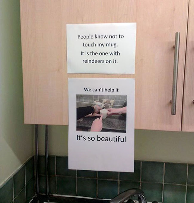 Funny passive aggressive office notes. (26)