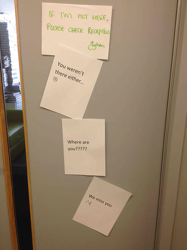 Funny passive aggressive office notes. (20)