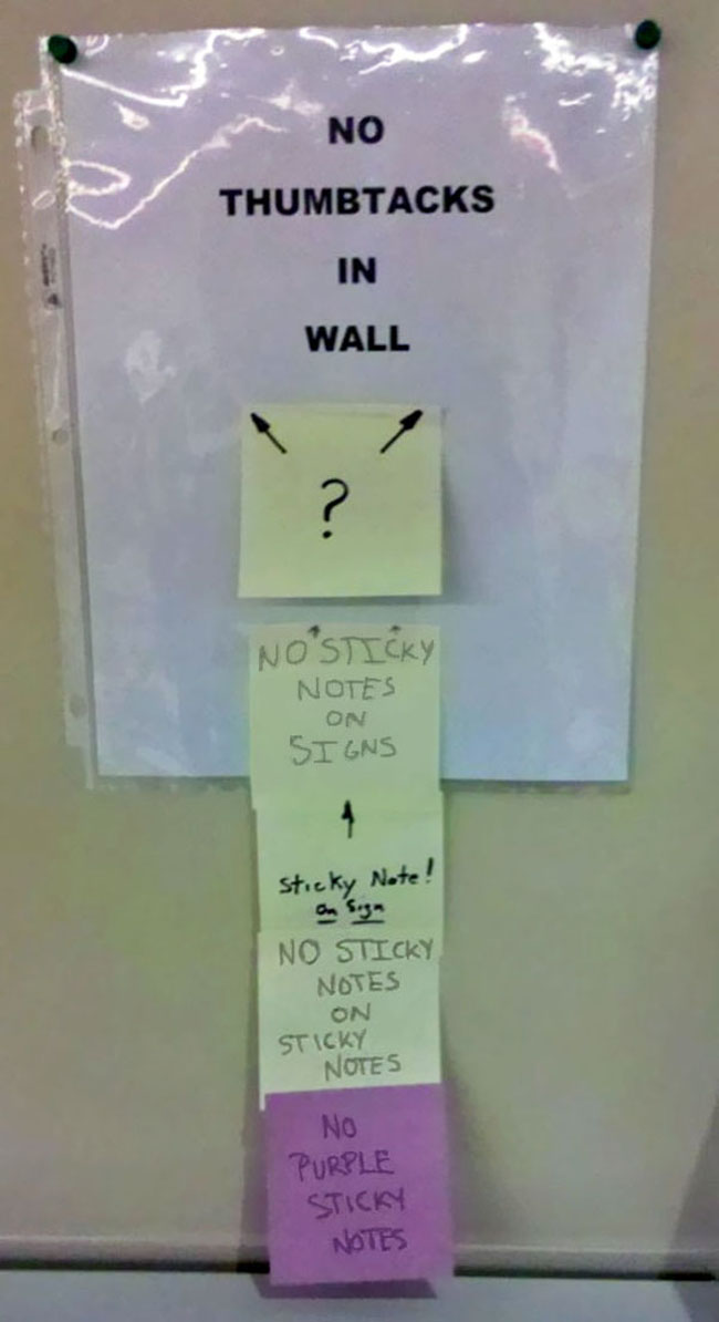 Funny passive aggressive office notes. (9)