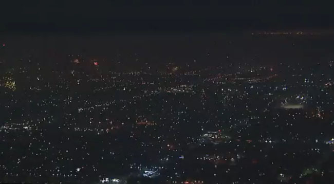 Los Angeles fireworks video.