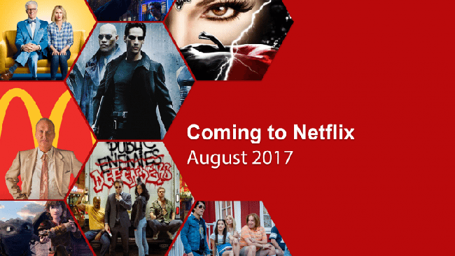 Netflix August 2017 new and leaving.