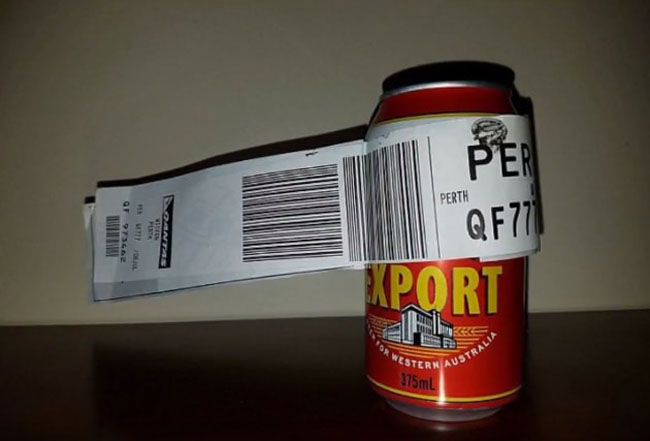 Sauce Monster Checks In Can of Beer And the Airport Shipped It! (2)