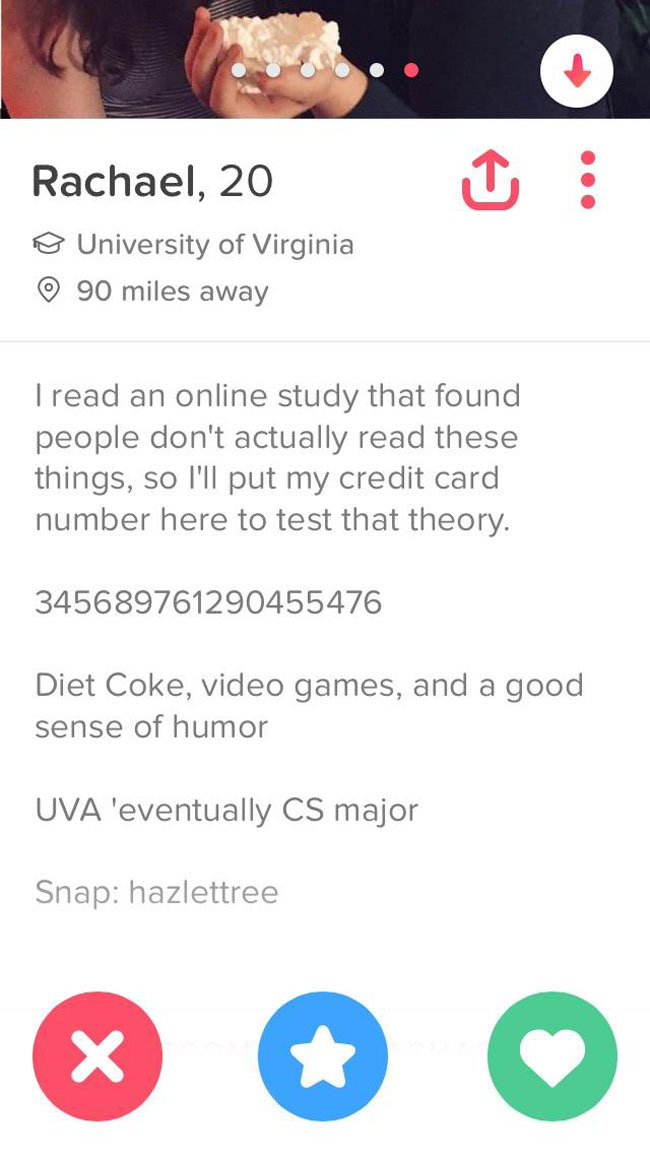 Really Funny Tinder Accounts. (1)