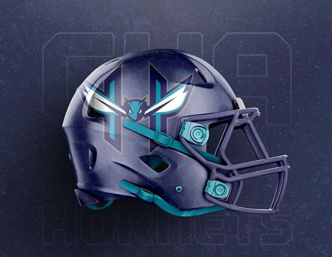 NBA Logos on Football Helmets. (47)