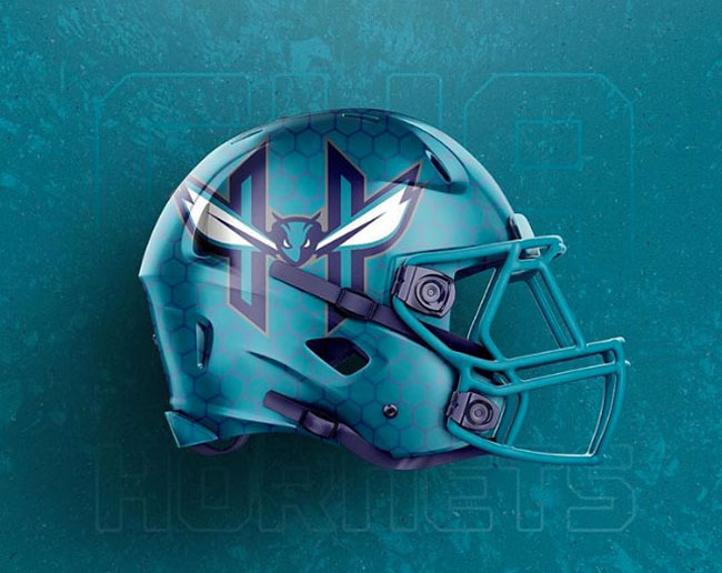 NBA Logos on Football Helmets. (46)