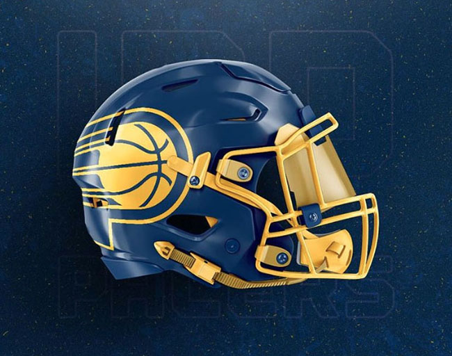 NBA Logos on Football Helmets. (42)