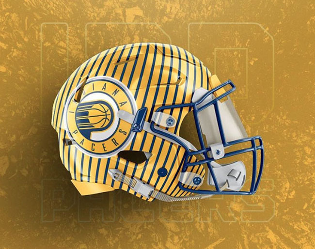 NBA Logos on Football Helmets. (41)