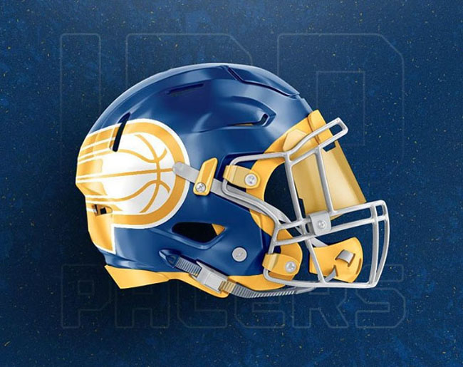 NBA Logos on Football Helmets. (40)