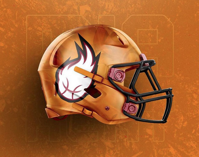 NBA Logos on Football Helmets. (34)